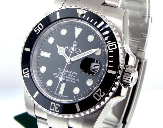 Relógio Pr/água 44 Mm Ceramica / Submariner/automático/c/cx.