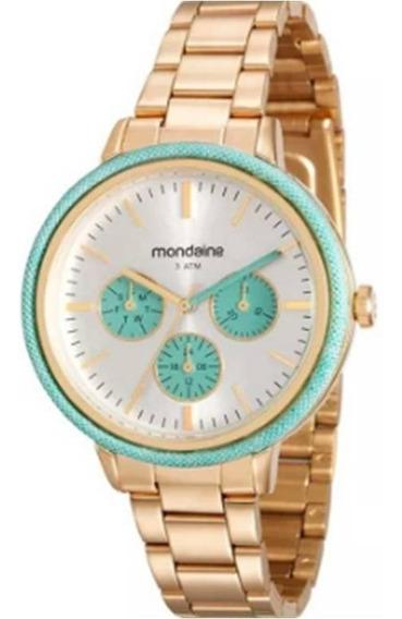 Relógio Feminino Mondaide 89002lpmvde1 Dourado