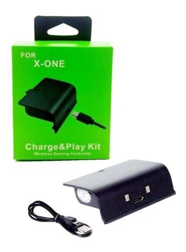 Bateria Recarregável E Cabo Usb Para Controle Xbox One