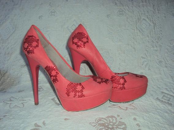 Sapato Meia Pata Rosa Pink Connection Tamanho 35 S2