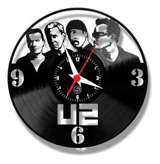 U2 Rock Relógio Parede Vinil Disco Lp Arte Musica Show Retro