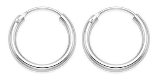 Brinco Argola Masculino Feminino Prata 925 Mini Piercing 8mm