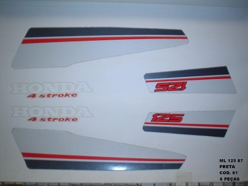 Faixa Cg 125 Ml 87 - Moto Cor Preta (61 - Kit Adesivos)