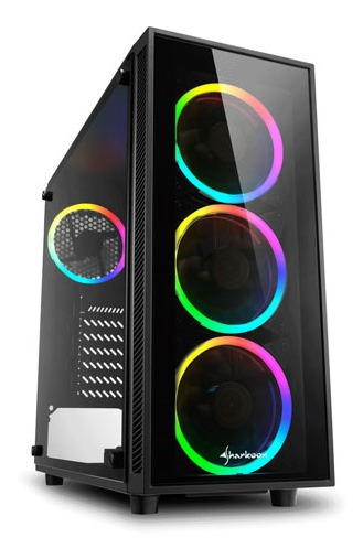 Gabinete Gamer Sharkoon Tg4 A-rgb 4 Fan Led Sk-sk