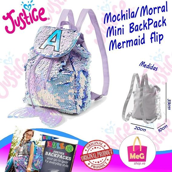 Morral / Mochila Mini Backpack Lentejuelas Sirena
