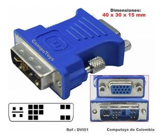 Zdvi01 Convertidor Dvi-i Macho 24+5 Vga Qdvi01q Compu-toys