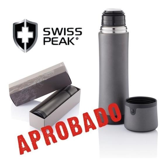 Termo De Acero Inoxidable 1/2 Litro Swiss Peak - Producto Aprobado Por Inal Para Contacto Con Alimentos