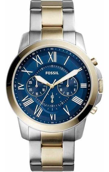 Relógio Fossil Grant Masculino Bicolor Analógico Fs5273/5an