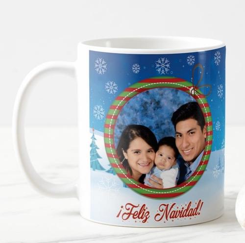 Tazas Personalizadas Con Foto Navidad X Mayor