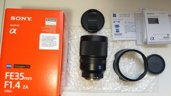 ## Lente Sony 35mm 1.4 Za Distagon T* Fe Zeiss Garantia Loja