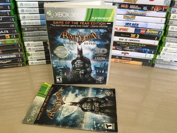 Batman Arkham Asylum Xbox 360 - Original - Mídia Fisica Dvd