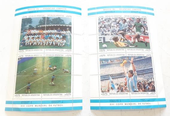 Diego Maradona Estampillas México 86