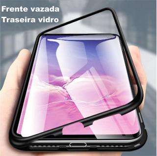 Capa Samsung Galaxy M20 Imã Magnético + Película Vidro 3d