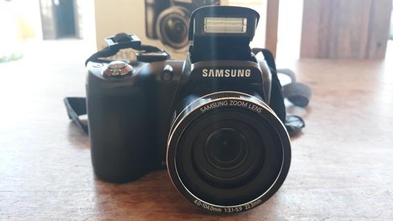 Câmera Samsung Wb100 Preta 16.2mp, Zoom Óptico 26x Dual