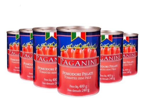 Imagem 1 de 4 de Tomate Pelado Paganini 400g ( 6 Unidades )