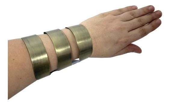 Bracelete Pulseira Feminino Largo Prata Escrava Luxo