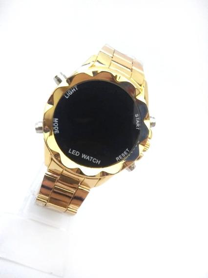 Kit C/ 10 Relógios Feminino De Pulso Digital C Botão Atacado
