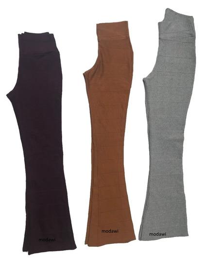 Calça De Bandagem Flare Cintura Alta Varia Cores P M G Gg