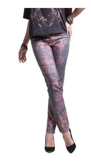 Calça Jeans Scalon Cintura Média Estampada Bootcut 140010