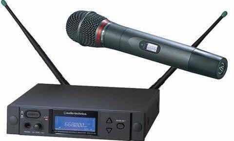 Microfone Audio-technica Aew 4240c Sem Fio-profissional Top!