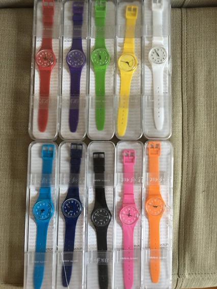 Relógio Swatch Feminino - Conjunto Com 10 Peças (cada R$350)