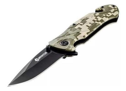 Canivete Tático Squad Militar Camuflado Digital Invictus