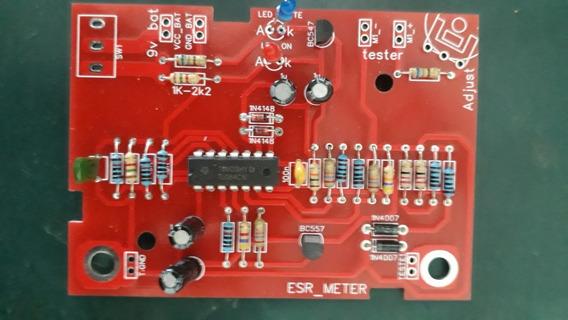 Kit Para Montar Capacheck Esr Meter + Adesivos + Componentes