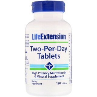 Two Per Day 120 Tabs Life Extension Multivitamínico