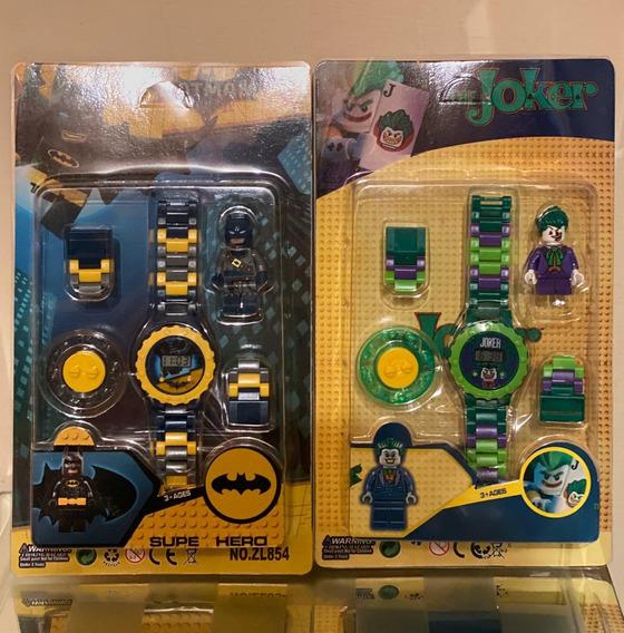 Reloj Lego Joker,toystory,maléfica, Dragonball,starwars,etc.