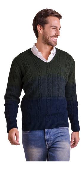 Sweater Escote En V Tricolor Mauro Sergio !
