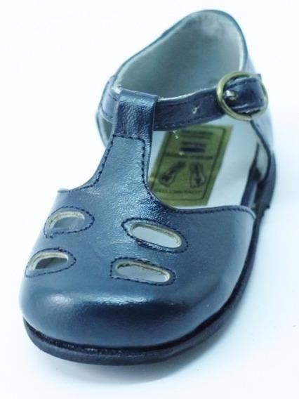 Zapatos Nena-legítimo Cuero Azul-un Solo Uso-17/18/19/21