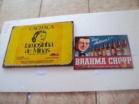 Placa Decorativa Metal Vintage Famosinha Januária - Brahma