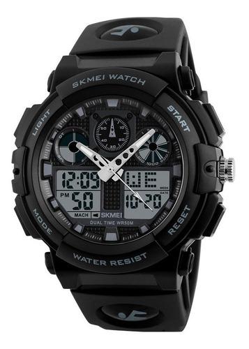 Relógio Skmei 1270 Masculino Preto Esportivo Cronometro Nf