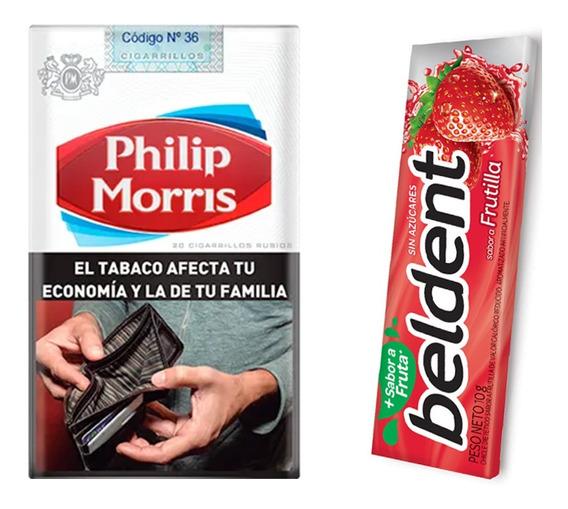 Cigarrillo Philip Morris Comun Ks De 20 Pack 10 + 10 Beldent