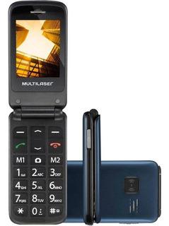 Celular Multilaser Flip Vita Dual Chip Azul - P9020