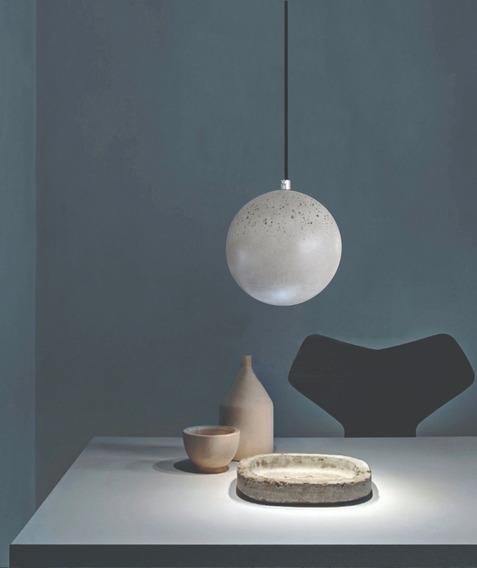Luminária Pendente Bella Luna Em Concreto
