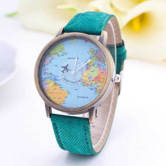 Relógio Unissex Com Pulseira Verde Muito Barato