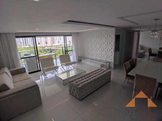 Apartamento Com 4 Quartos Para Alugar, 170 M² Por R$ 7500/mês Om Taxas - Boa Viagem- Recife/pe - Ap2195