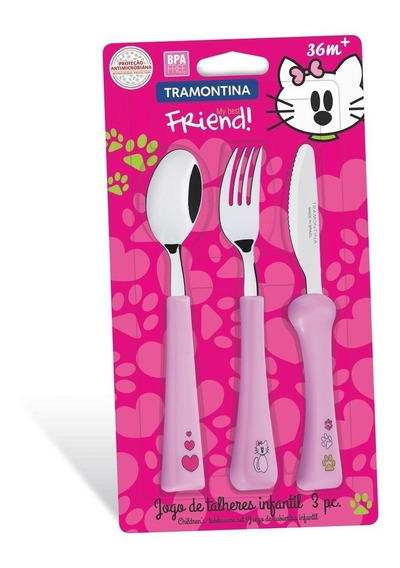 Set X 3 Cubiertos Bebe Tramontina My Best Friend Infantil