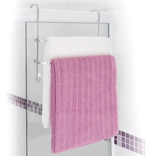 Suporte Porta Toalhas Duplo Em Aço Toalheiro Box De Banheiro Toalheiro Cromado Encaixe Fácil Prático Com Nota Fiscal