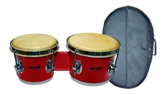 Kit Bongo Torelli 7x8 Tb011 Vermelho Com Capa