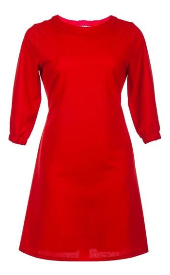 Vestidos Cortos Rojos Cuello Redondo Juveniles Elegantes