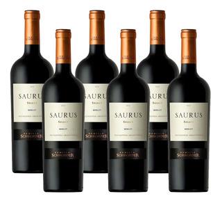 Vino Saurus Select Merlot Caja X6 Unidades