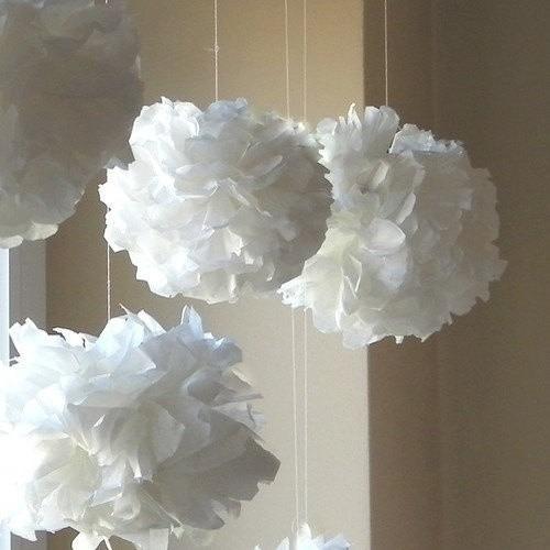 Pompones De Papel De Seda-flores-35cm Fiestas Z.sur,caba