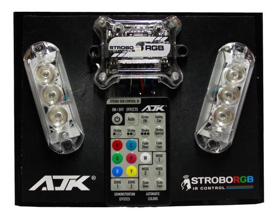 Strobo Ajk Rgb Ir Control C/ Controle Central + Par Strobo