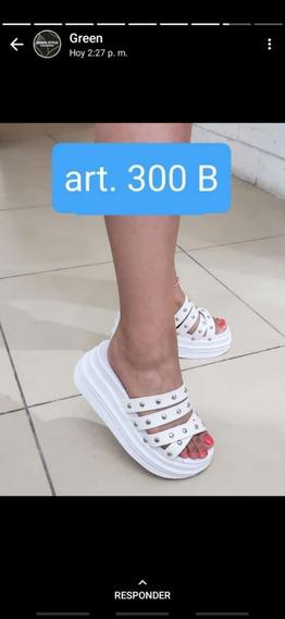 Sandalias De Mujer Ecocuero Suela Flat Gomones Super Moderno