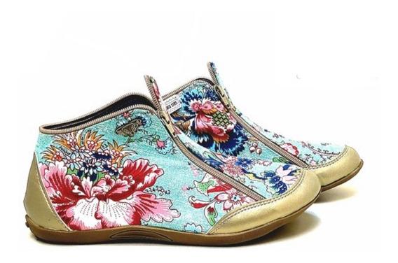 Zapatillas Tipo Botita Con Doble Cierre Primavera Verano