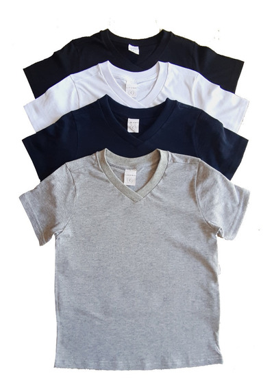 Lote Com 4 Camiseta Infantil Manga Curta 2/3/4/6/8
