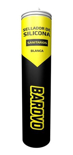 Sellador Silicona Para Sanitarios Blanca 280ml Barovo