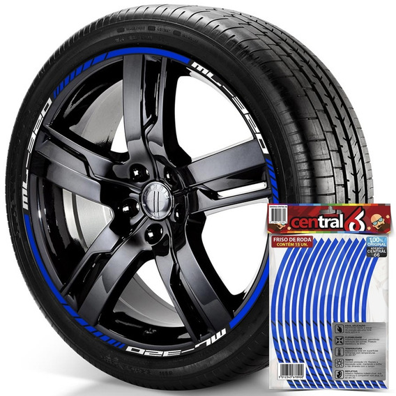 Filete De Roda Mercedes-benz Ml-320 Refletivo Azul